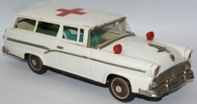 1956 Tin Red Cross Ford Ambulance 2-door Station Wagon