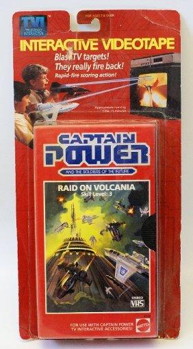 Mattel 1987 Captain Power Interactive Vhs Videotape,