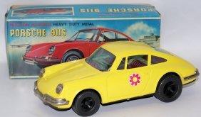 Rare 60's Daiya Japan Tin Friction Porsche 911s In