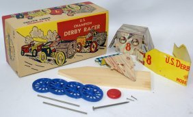 Rare! U.s. Champion Soap Box Derby Racer Kit #8 By Us