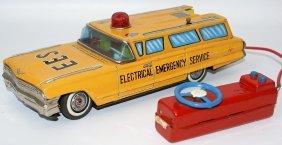 Rare Tin B.o. Cadillac Station Wagon 'electrical