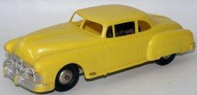 Friction Hard Plastic Yellow 1952 Pontiac Super 8 Coupe