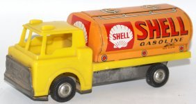 Friction Tinplate & Plastic Shell Oil Gas Tank Truck,