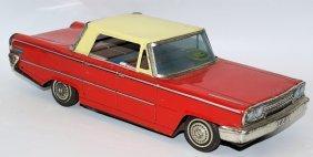 Rare Tin Friction Ford Sedan Car By Kusama (k) Shoten,