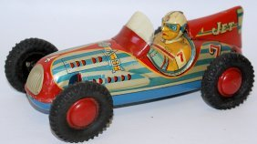 Rare 50's Tin Friction Marusan (japan) #7 Jet Racer