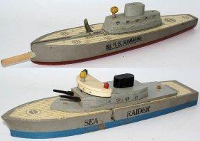 40's Keystone Wooden S-3 & Sea Raider U.s. Submarine