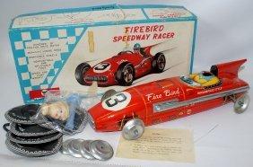 50's Tin Friction Firebird Speedway Indy Racer Race Car