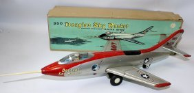 Tin Friction Navy 350 Douglas Sky Rocket Plane Airplane