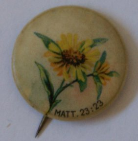 Chicago Sunday School Celluloid Advertising Pin,