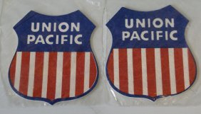 Lot Of 2 Union Pacific Railroad Train Memorabilia, Dip