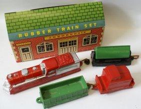 Rare Auburn Rubber Train Set # 529-169 In Original