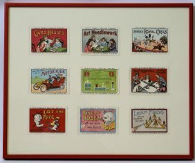 1910-20's Set Of Spear's Premium Stamps Advertising
