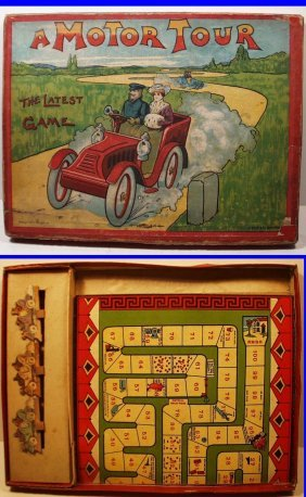 Antique A Motor Tour By Spear's Games, Extremely Rare