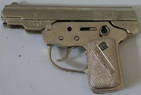 National Cast Iron Pistol Cap Gun By Kilgore, Totally