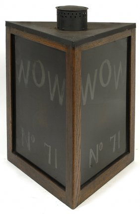 CA. 1900 WOODMEN OF THE WORLD LODGE LANTERN