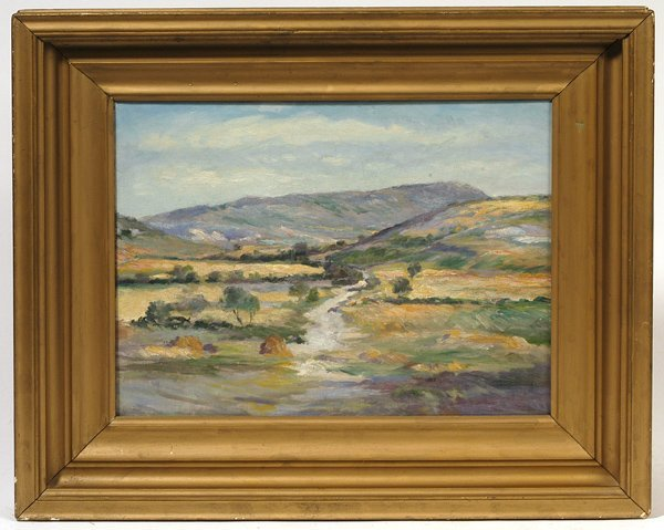 Oil Painting Signed On Bacl Briggs
