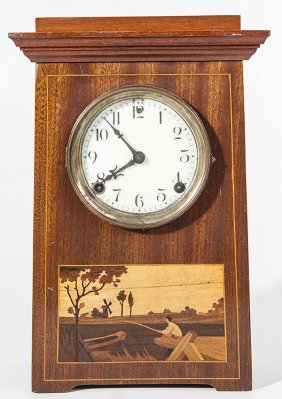 Sessions Arts & Crafts Inlaid Clock