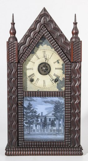 Rare Ripple Steeple Clock By J.c. Brown