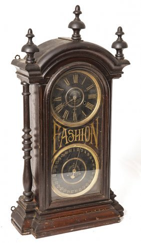 Rare New Haven Fashion Calendar Clock