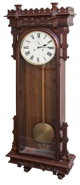 E.n. Welch Regulator No. 12 Wall Clock