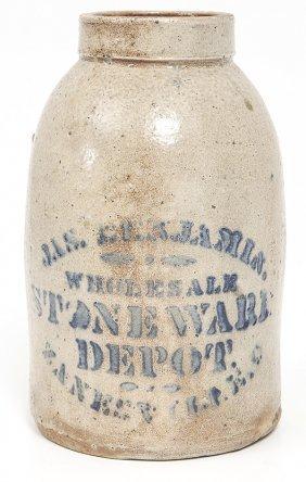 Jason Benjamin Zanesville, Ohio Stoneware Jar