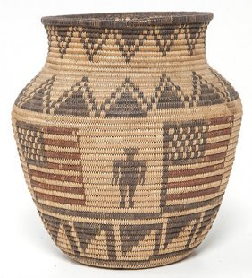 Apache Polychrome Pictorial Olla