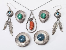 Lot Of Navajo Silver Jewelry