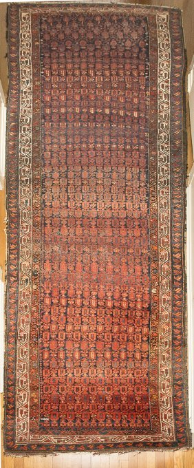 Antique Tribal Oriental Runner