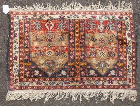 Persian Double Oriental Prayer Rug