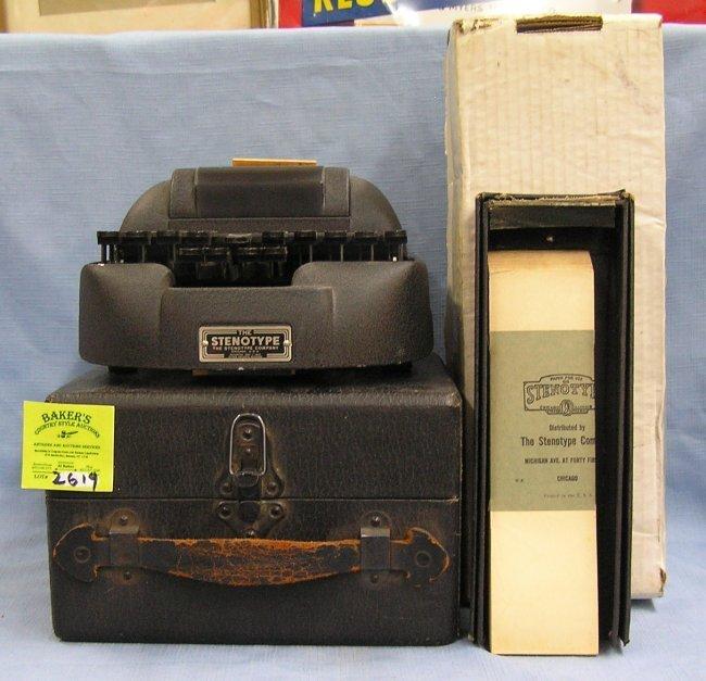 vintage stenotype machine