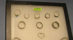Collection Of 5 Sterling Silver Rings
