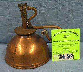 Antique Copper Oil Lamp