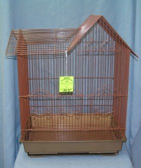 Vintage Style All Metal Bird Cage