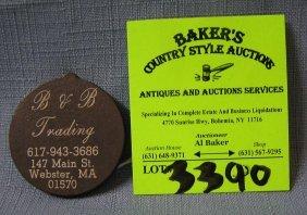Vintage Trading Token From Massachusetts