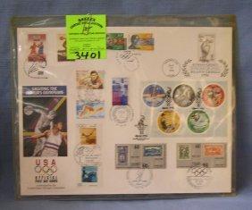 Vintage Atlanta Olympics Stamp Set