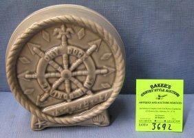 Vintage Porcelain Dry Dock Nautical Bank