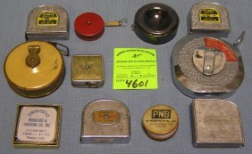 Vint.tape Measures Many W/ Advertising & Famous Co.