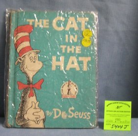 Early Dr. Suess Cat In The Hat Book First Edition