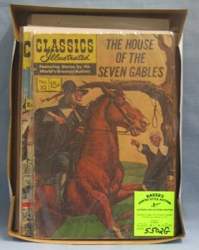 Group Of Vintage Classic Illustrated Comic Books