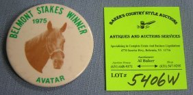 Vintage Button For Belmont Stakes Winner Avatar
