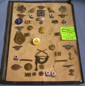 Vintage Army Officers Medals, Pins And Awards