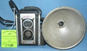 Vintage Kodak Duoflex Camera And Flash Unit