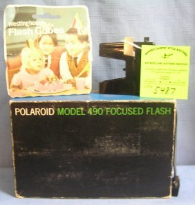 Vintage Polaroid Model Focus Flash Kit With Original