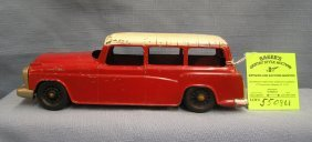 Early All Cast Metal Station Wagon By Hubley Toys