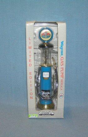 Cast Metal Amoco Gas Pump With Original Box
