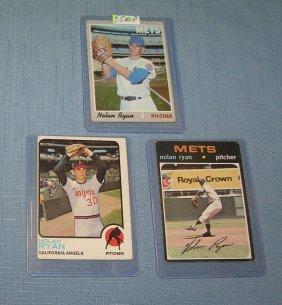 Group Of 3 Early Nolan Ryan Baseball Cards