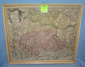 Antique Map Of Austria