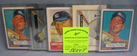 Mickey Mantle Reprint Baseball Cards Including Rookie