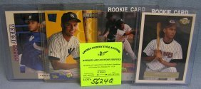 Group Of Four Derek Jeter Rookie Baseball Cards