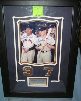 Certified Mantle & Williams Autographed Photo